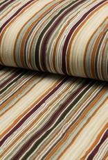 *Voile Crinkle stripe bordeaux