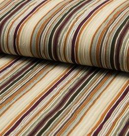 Voile Crinkle stripe bordeaux