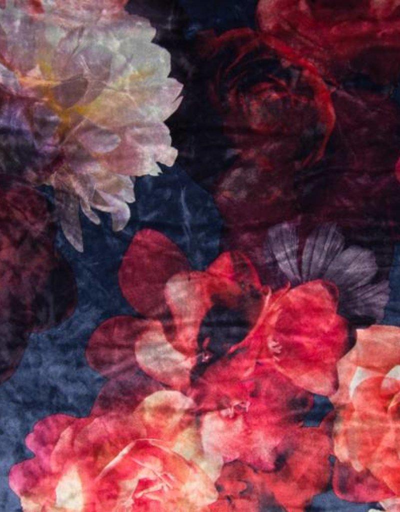 Ice velours flowers roze