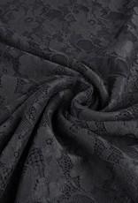 *Kant bloemen donker grijs