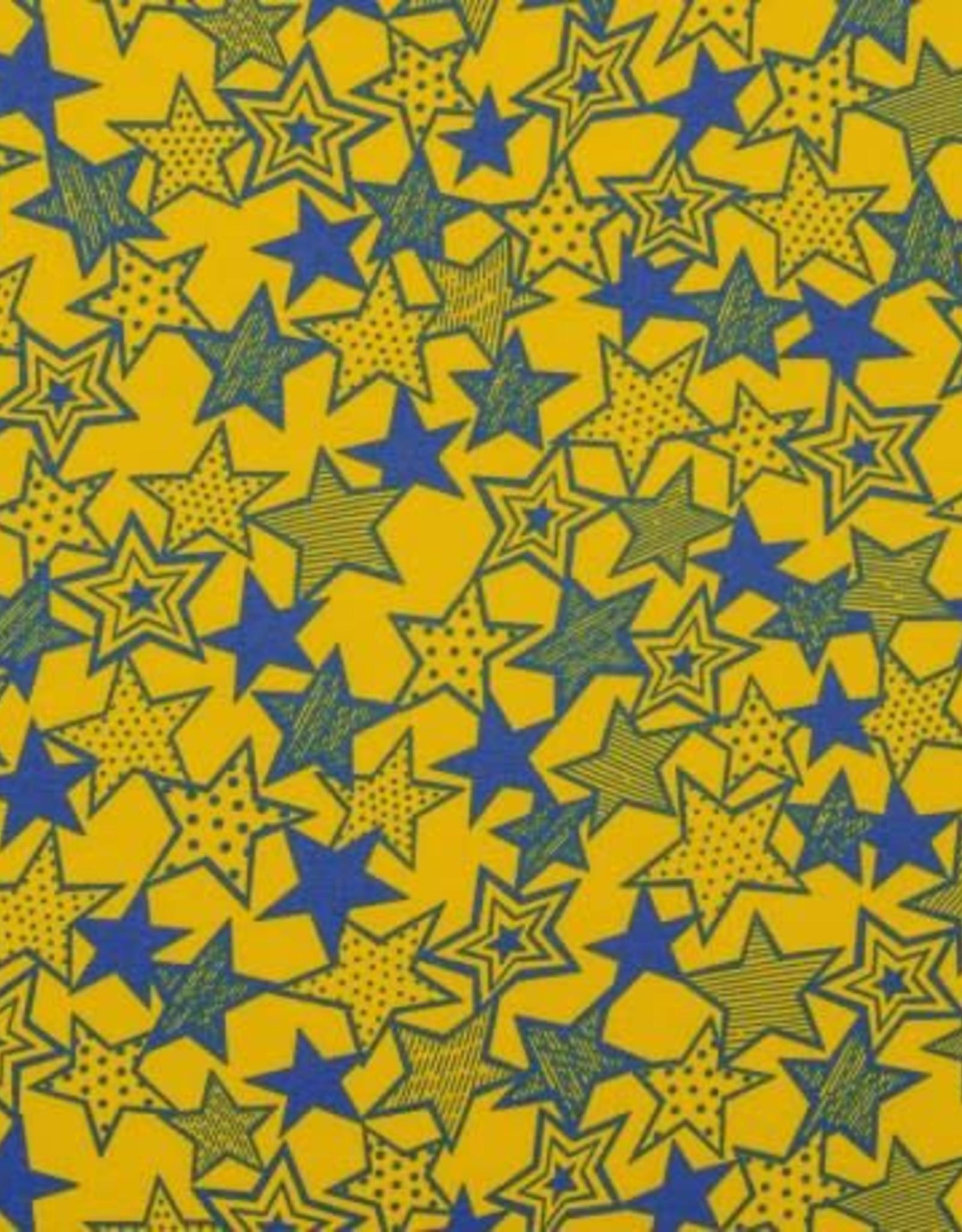 Swafing Tricot Katoen stars geel