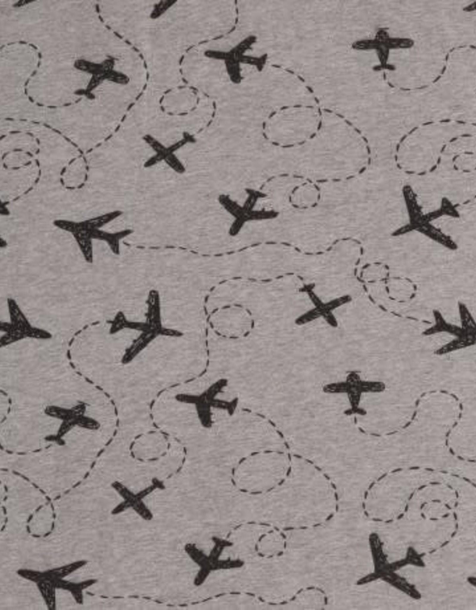 Swafing *Tricot Katoen Let's fly away grijs