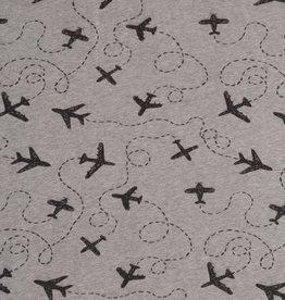 Swafing Tricot Katoen Let's fly away grijs