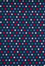 Poplin Stars navy