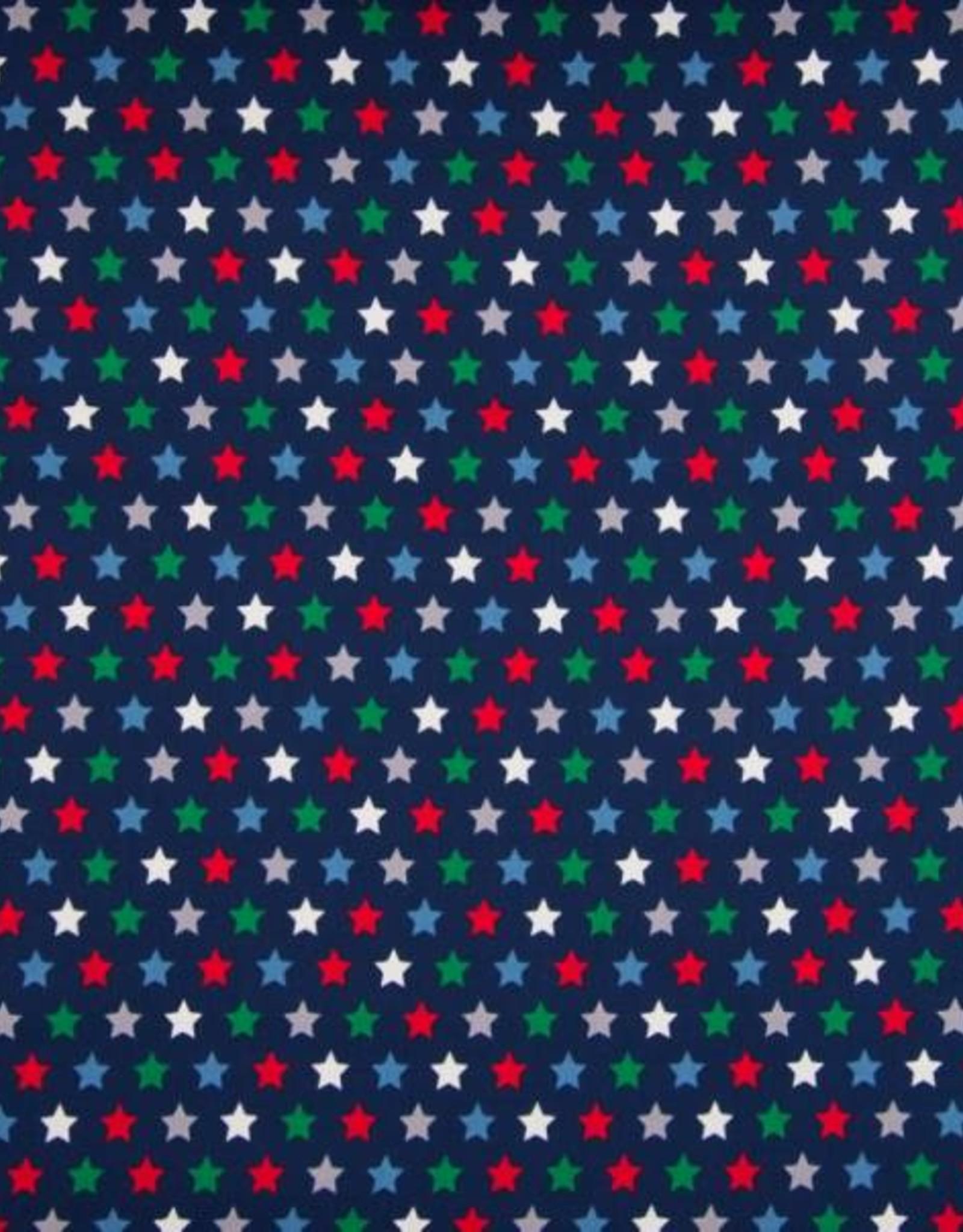 *Poplin Stars navy
