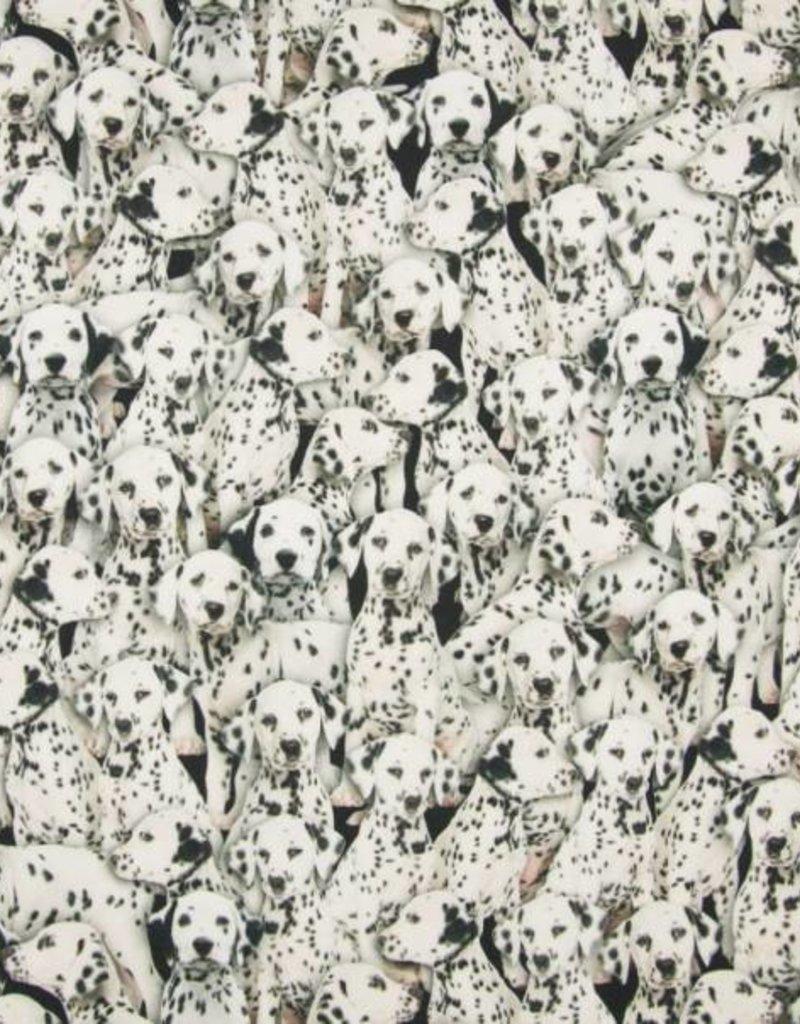 Tricot katoen digi Dalmatians