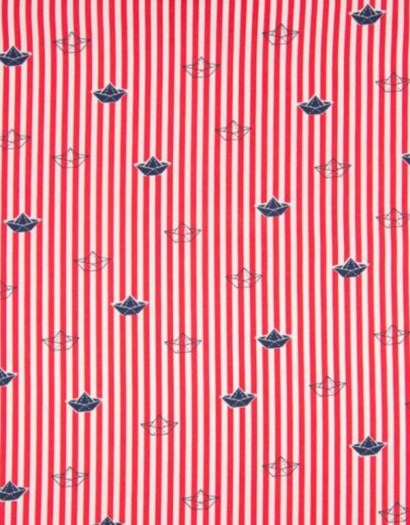 Poplin Paper boat red