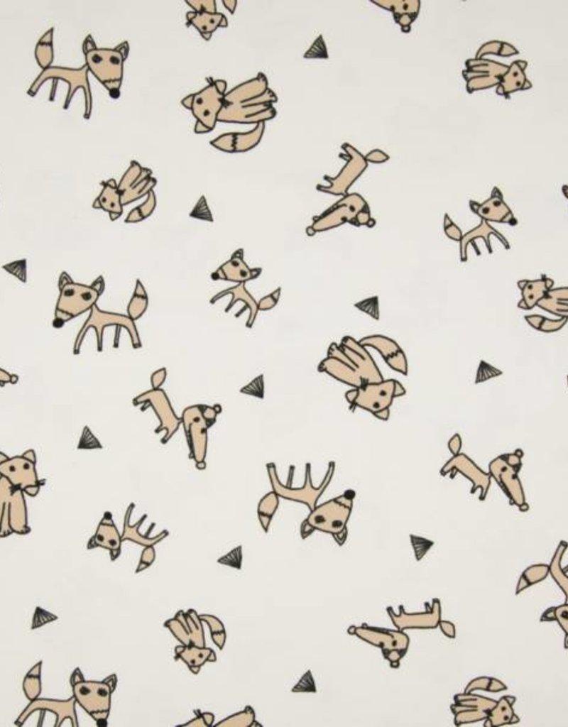 Tricot katoen paper fox sand