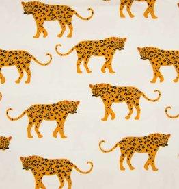 Tricot katoen leopard big ecru