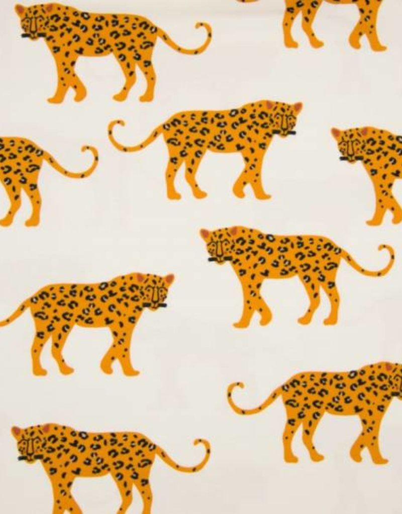 Qjutie Tricot katoen leopard big ecru