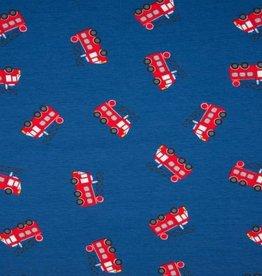 Qjutie Tricot Katoen brandweer blauw rood