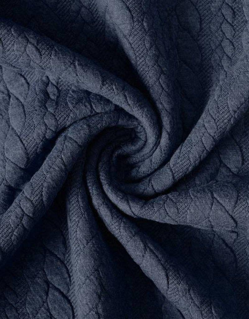 Gebreide kabel grijsblauw