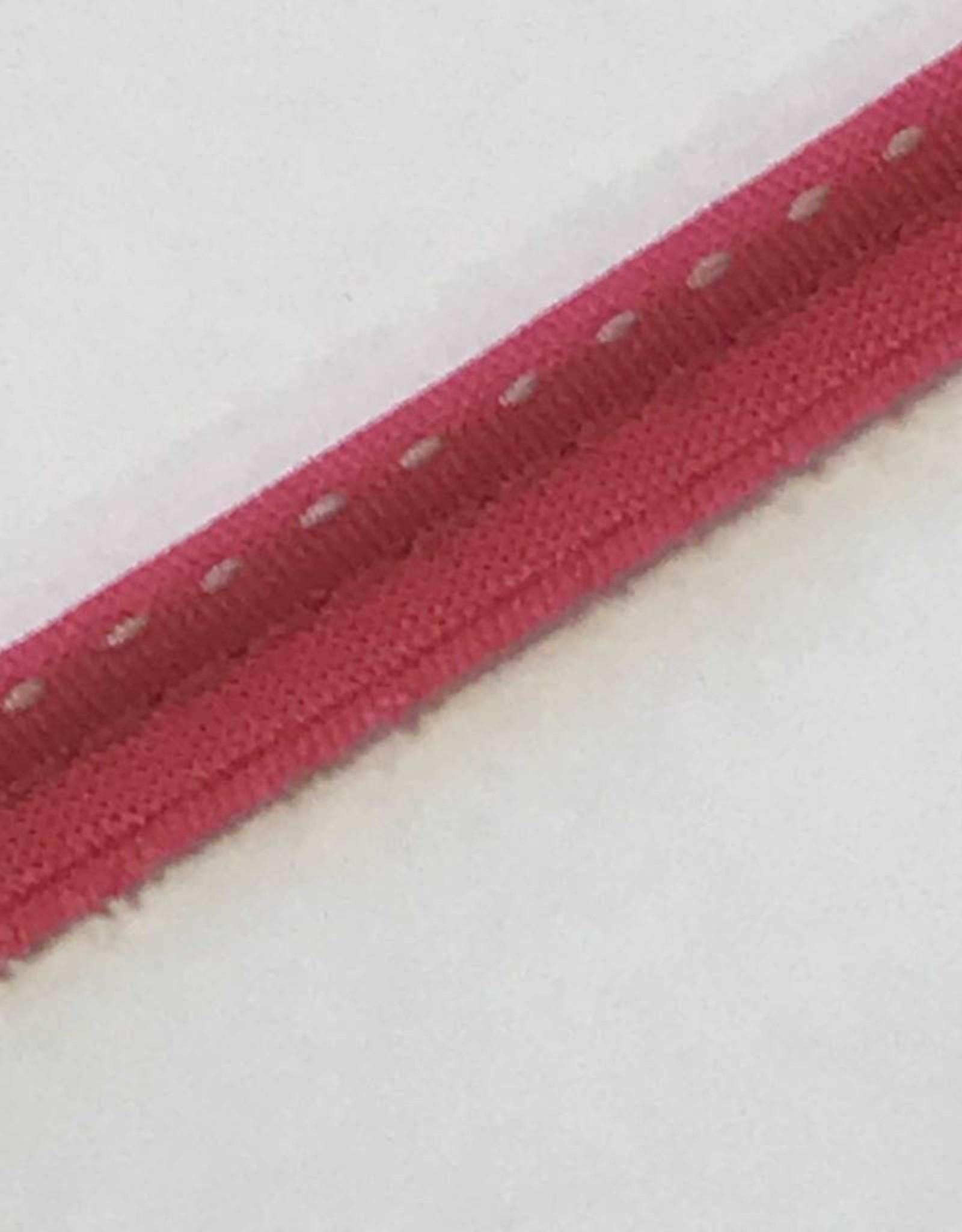 Paspelband roze gestreept