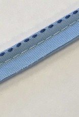 Paspelband blauw gestreept