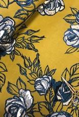 Single crepe bloemen mosterd