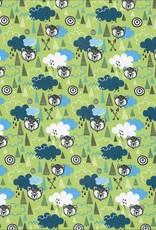 Swafing Jogging brushed, Bears Clouds kiwi green