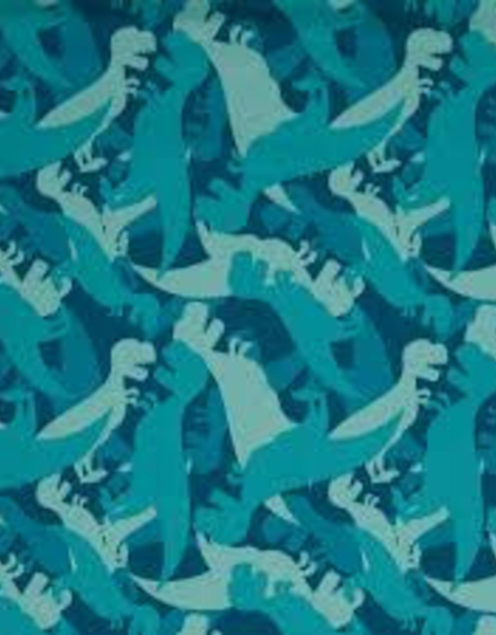Swafing *Soft shell Sheldon dino blauw