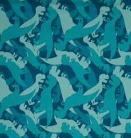 Swafing Soft shell Sheldon dino blauw