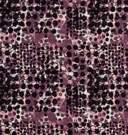 Swafing Tricot Viscose circles animal Roze