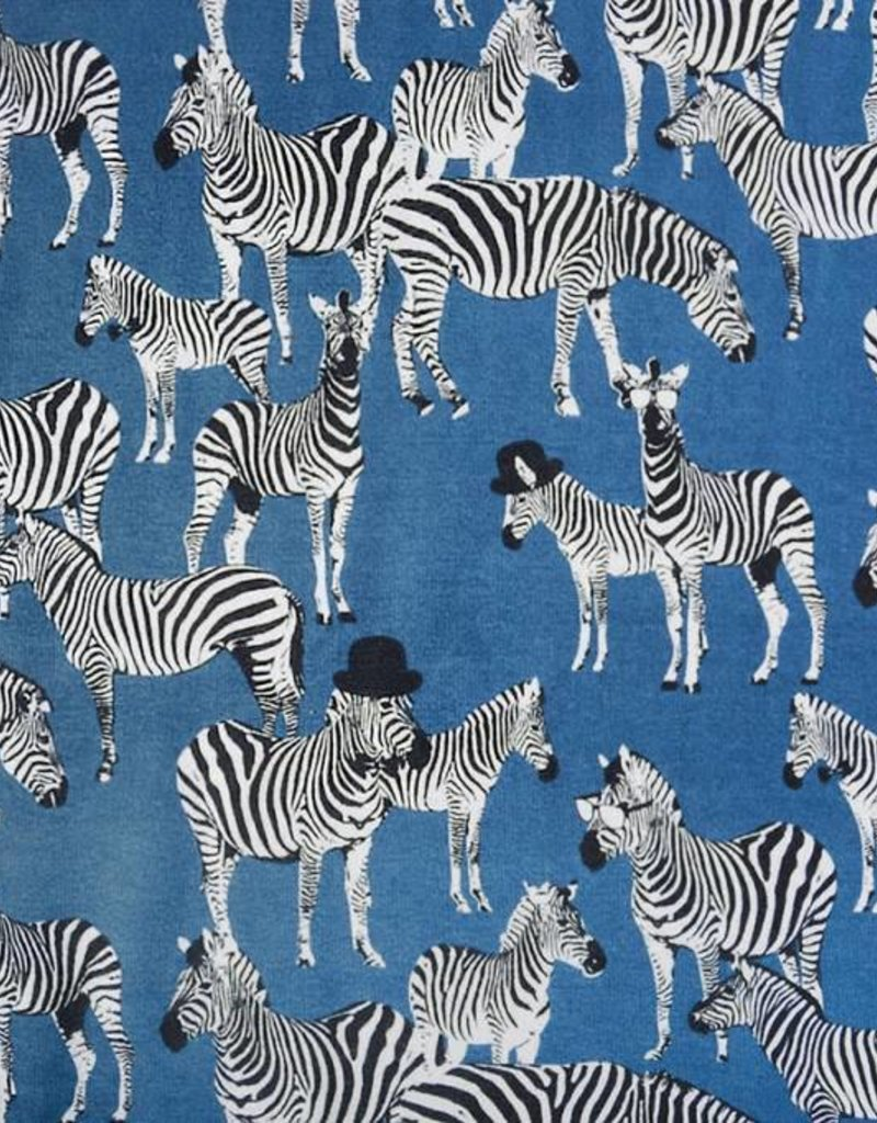 Jogging zebra blauw