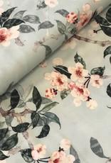 4way stretch magnolia munt