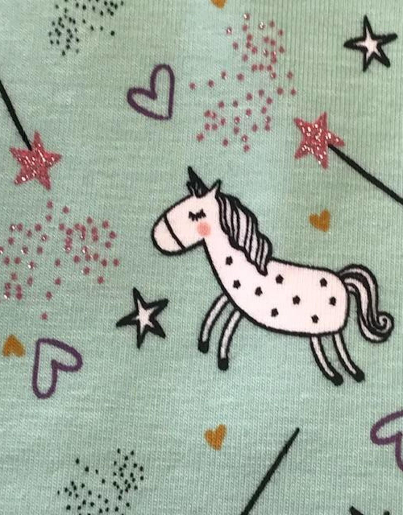 Tricot believe in magic glitter munt roze