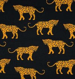 Qjutie Tricot katoen leopard big black