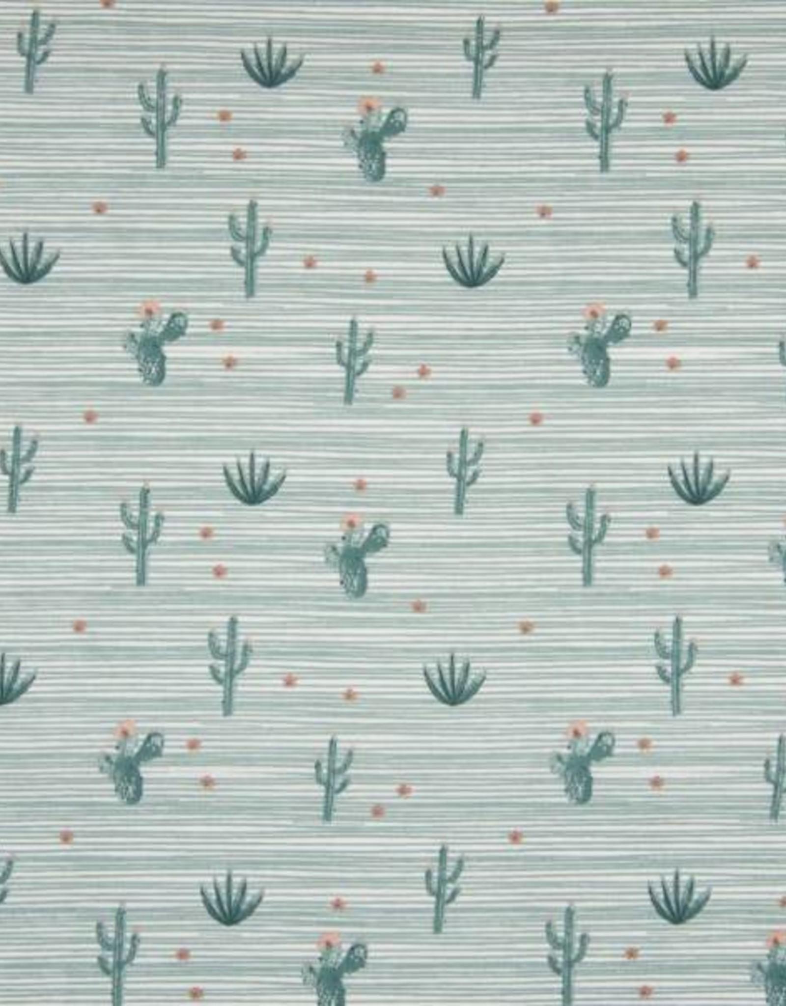 Qjutie Poplin desert and stripes munt