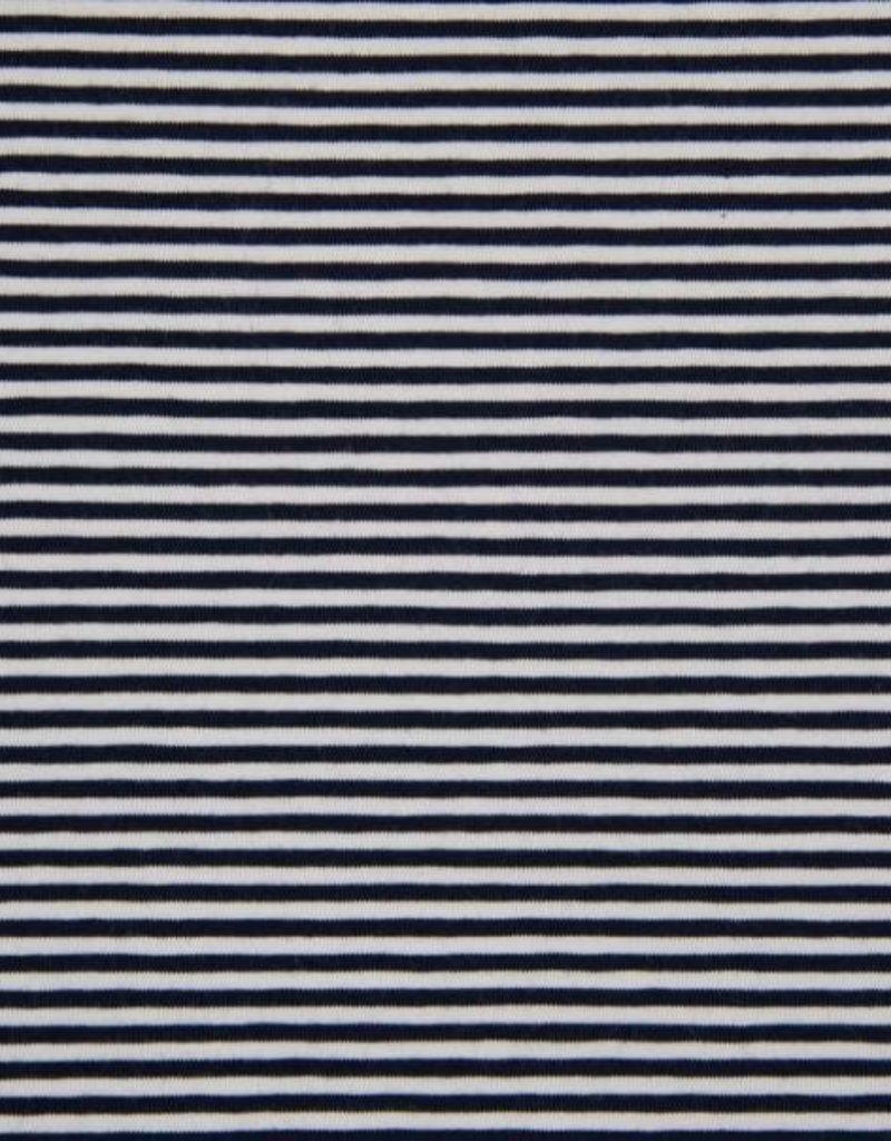 Tricot katoen stripes 0.3cm navy
