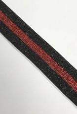 ELASTIEK zwart rood