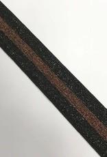 ELASTIEK 40mm zwart brons