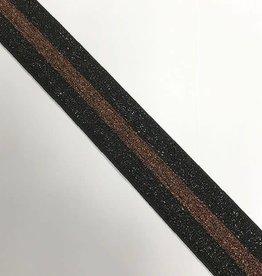 ELASTIEK zwart brons
