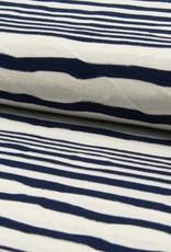 Jacquard stripes navy