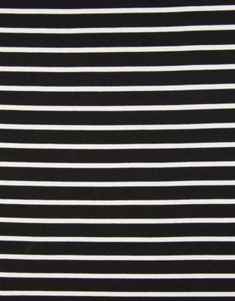 Punta Yarn dyed stripes navy wit