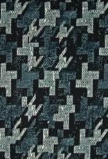 *Punta print navy mint