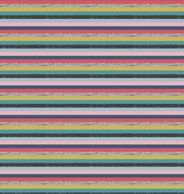 Poppy Tricot katoen Yarn dyed stripes roze groen blauw