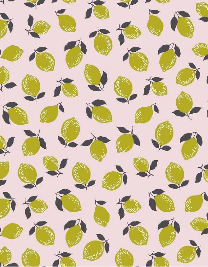 Poppy Tricot katoen lemon and lime roze