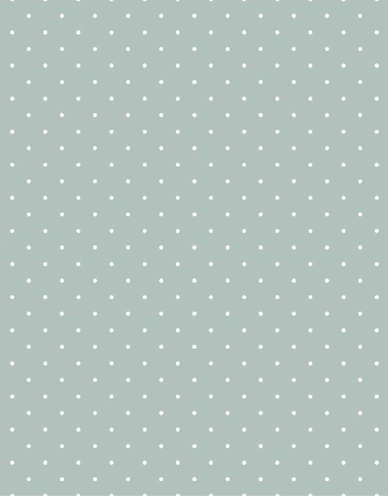 Poppy Tricot katoen Tiny dots mint green