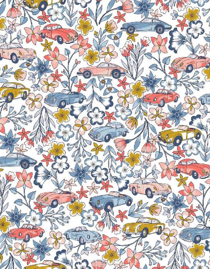 Poppy Katoen ruta de las flores wit