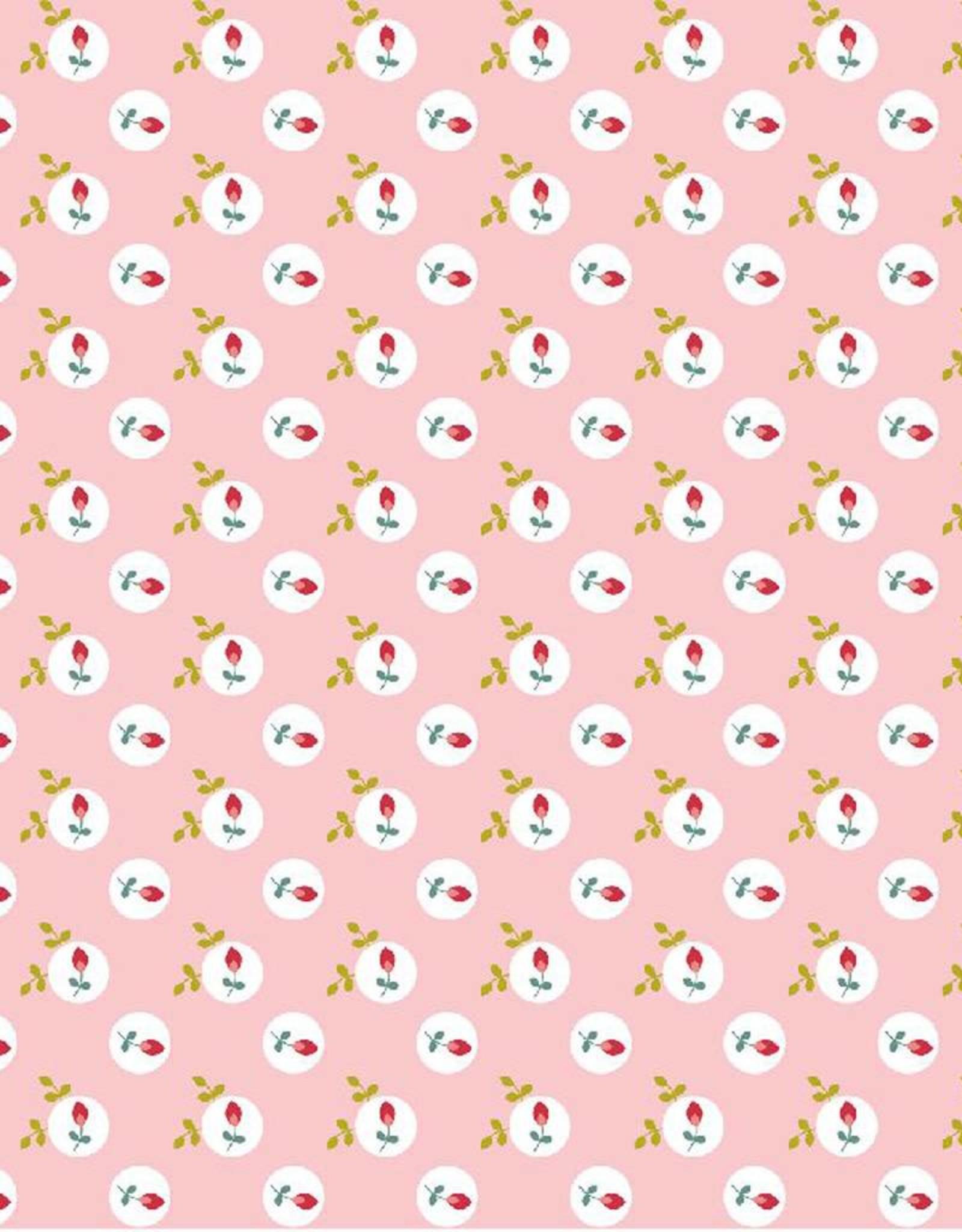 Poppy Katoen eglantine roze