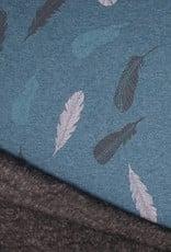 Happy fleece feathers blue
