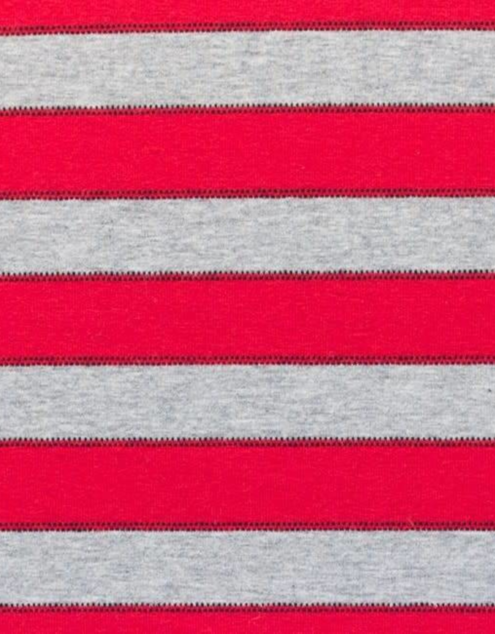 *Tricot Stripe With Dotted Line Red