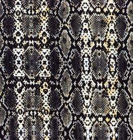 Tricot Digitaal Bedrukt Slangenprint