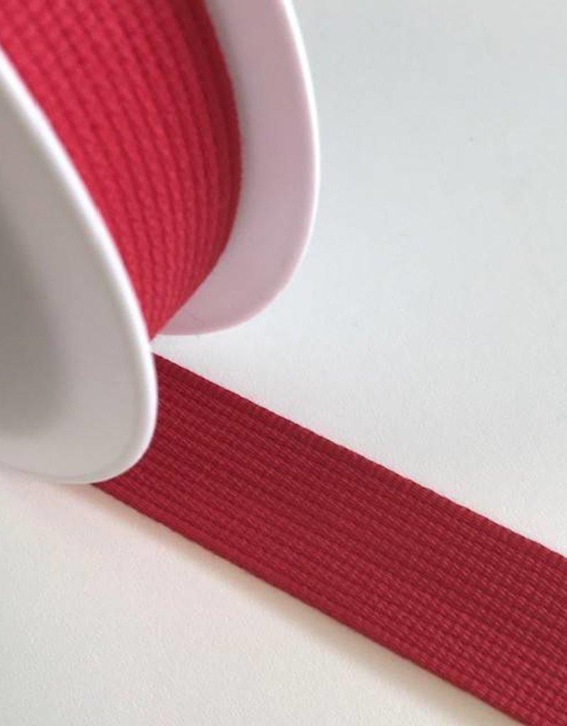 Tassenband rood 30mm