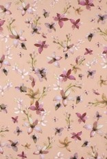 4way spandex supersoft flowers pink