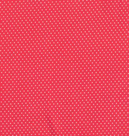 Viscose small dots red