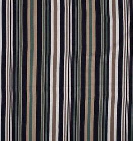 Viscose linnen stripes green blue