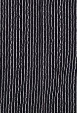 Borken Crepe Yoryu print stripe navy