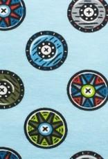 *Tricot katoen Shields blue