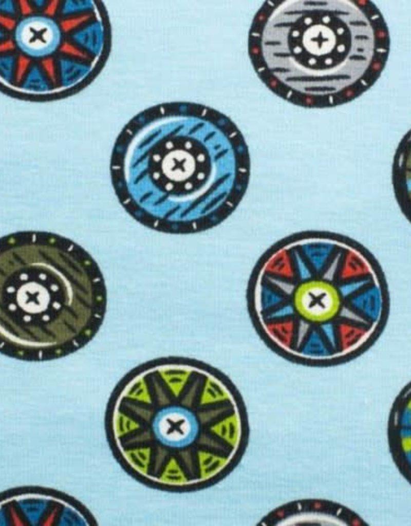 Tricot katoen Shields blue